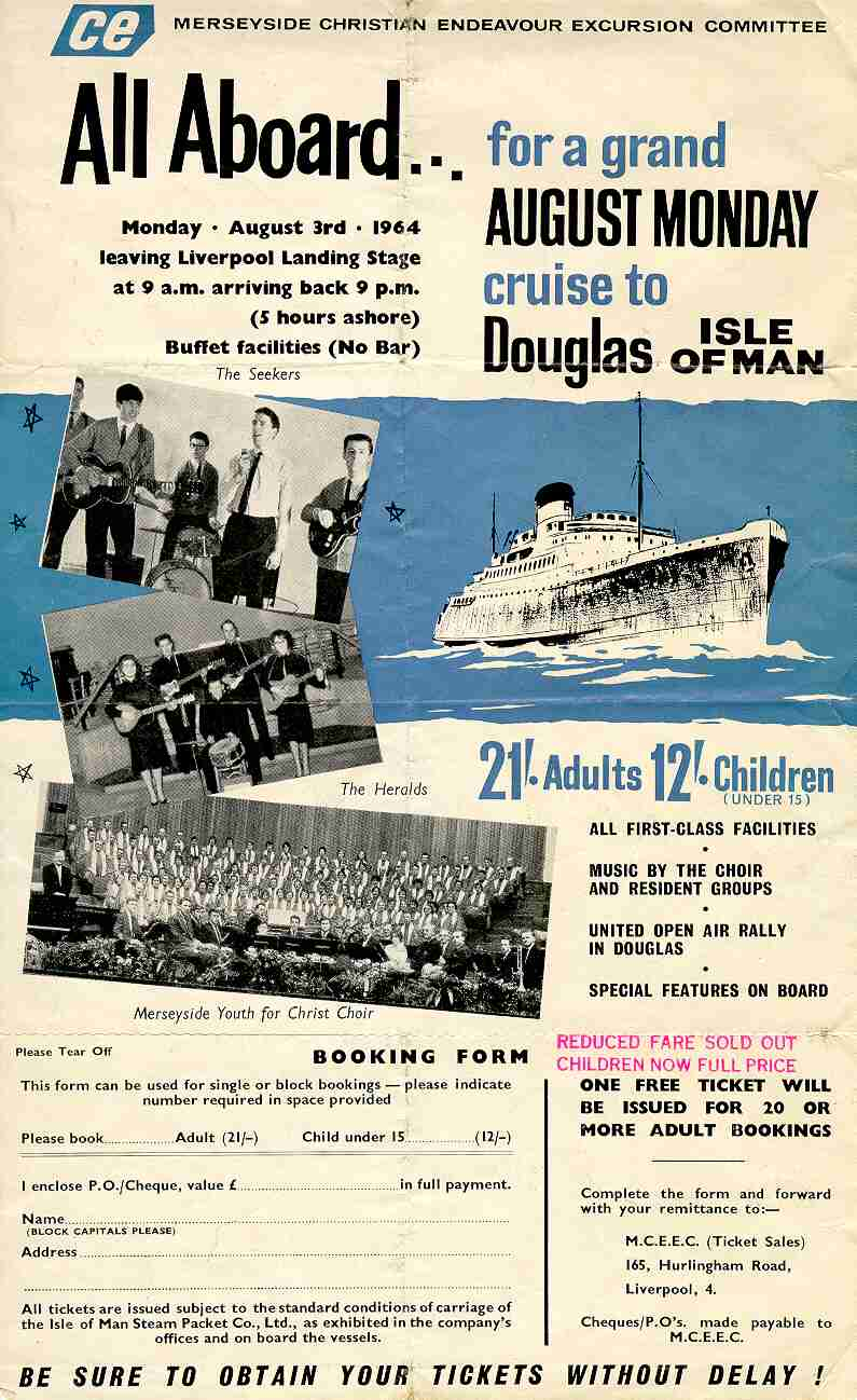Leaflet for CE cruise Aug 64